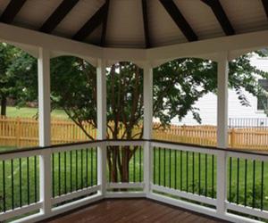 Porch with trex deck